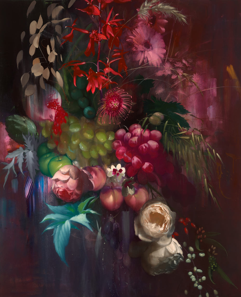 Still Life of Fruit and Flowers - Chris Kettle