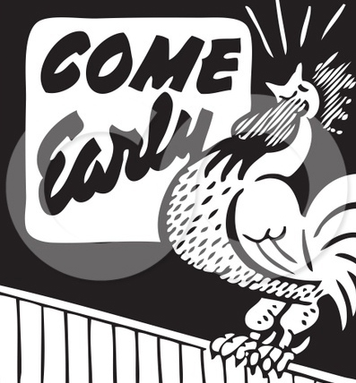 210441-Royalty-Free-RF-Clipart-Illustration-Of-A-Retro-Black-And-White-Come-Early-Rooster-Advertisement-1vfnsi3.jpg