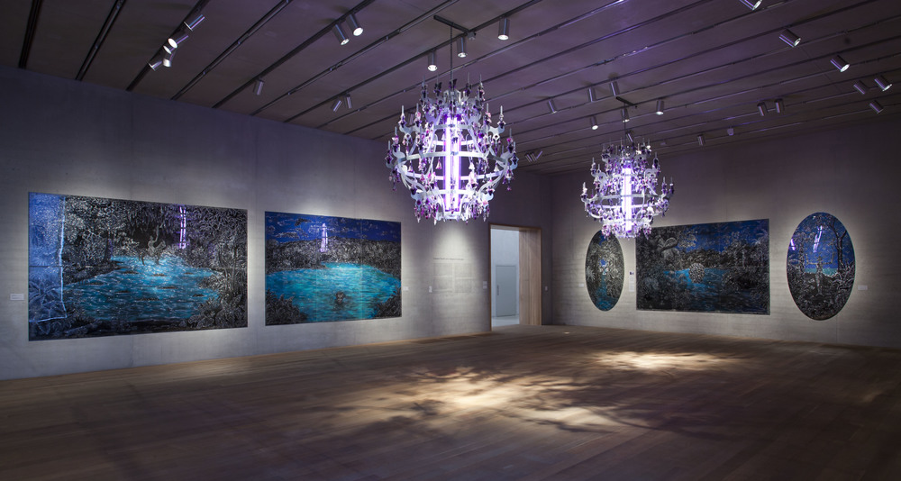 Installation view, Imagined Landscapes, Perez Art Museum Miami, 2014