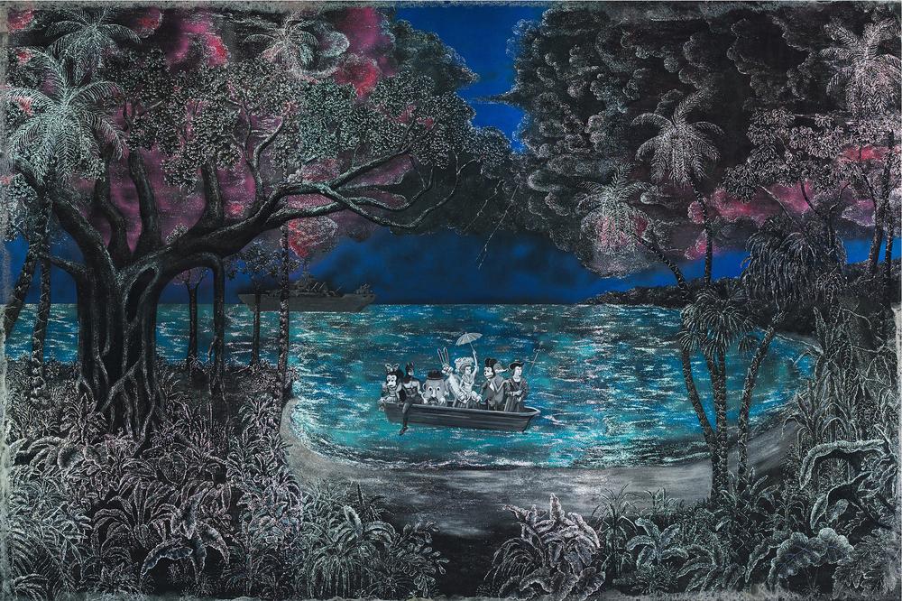 After Bierstadt - The Landing of Columbus