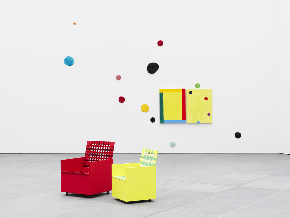 "Installation image of ""Mary Heilmann Good Vibrations"",  2013"