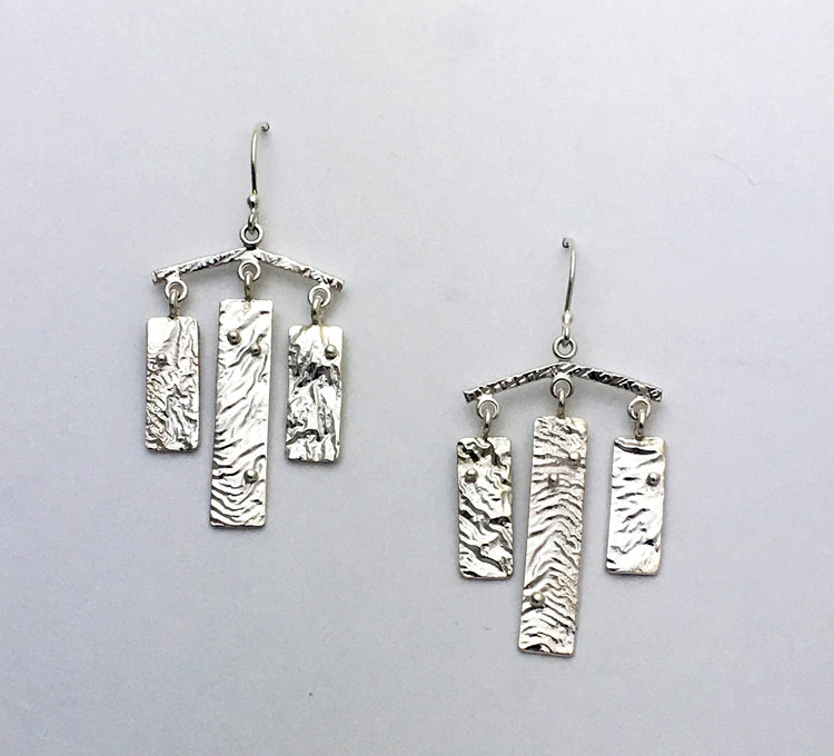 Reticulated silver chandelier earring texture sterling silver reticulated silver chandelier earring texture sterling silver aloadofball Gallery