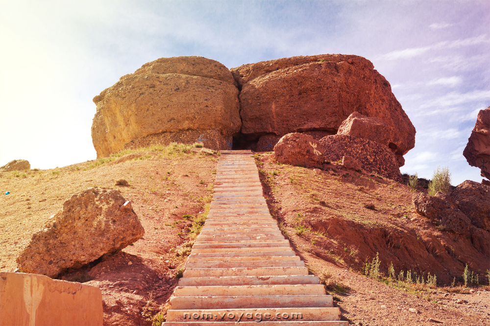 We stopped on the side of the road to climb up to this rock. Below is a panoramic view of the town from the rock.