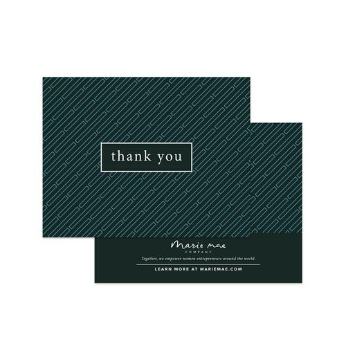 thank you card set marie mae company