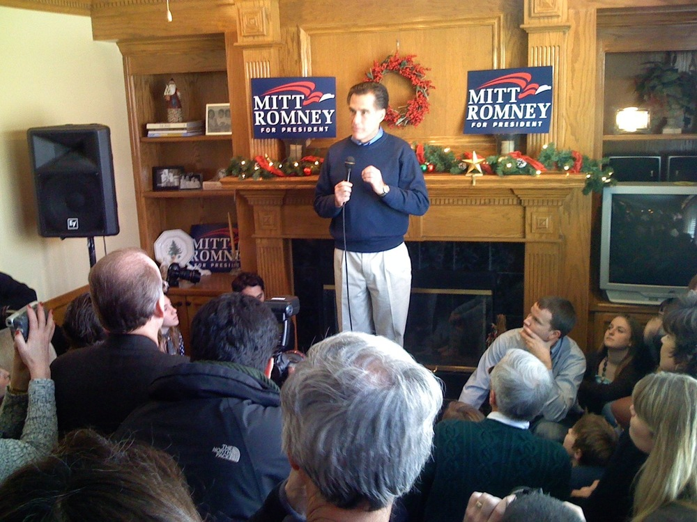 Romney in Iowa house