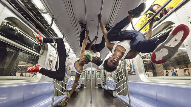 The rarest subway performers of all: acrobats. Some are so talented they can get tips from empty train cars, as seen above.