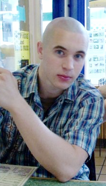 Me, with a shaved head in college. Different? Yes. Bad? I don't think so.