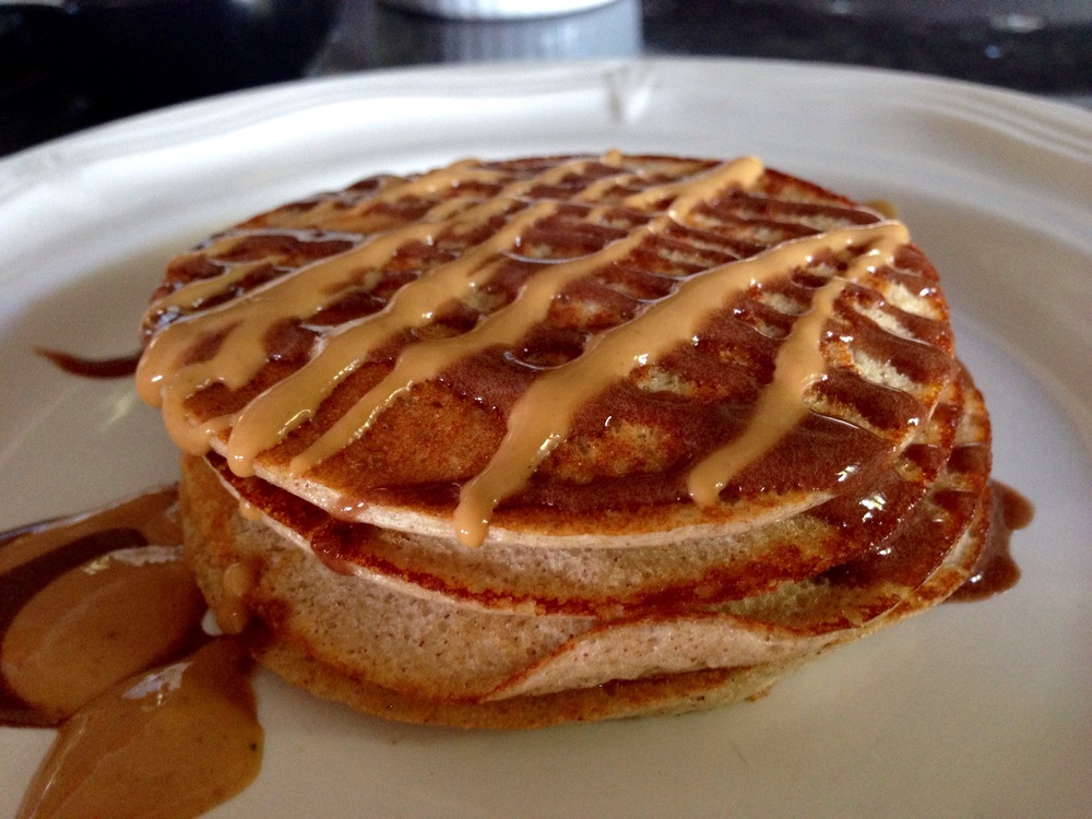 Adapted from:   http://thefitbaldman.com/perfect-protein-pancakes.html