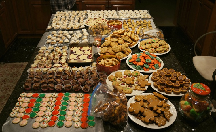 cookies every year i make boxes and boxes of cookies for family and friends this year i made at least 18 dozen with my dads wonderful lady cristi
