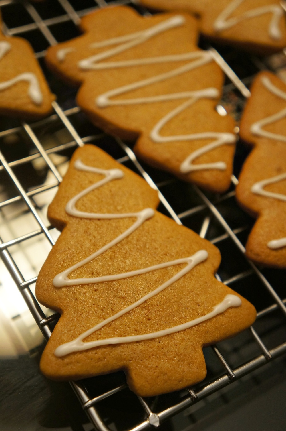 Lightly glazed Gingerbread Cookies- yum! Christmas staple