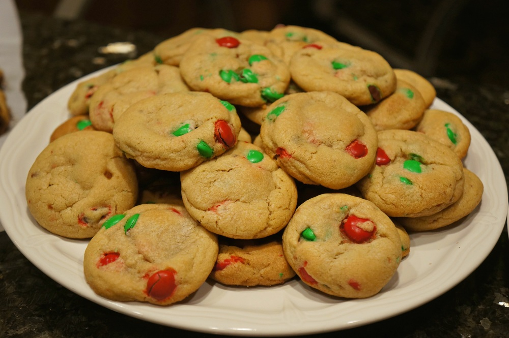 My perfect chocolate chip cookies with M&M's!