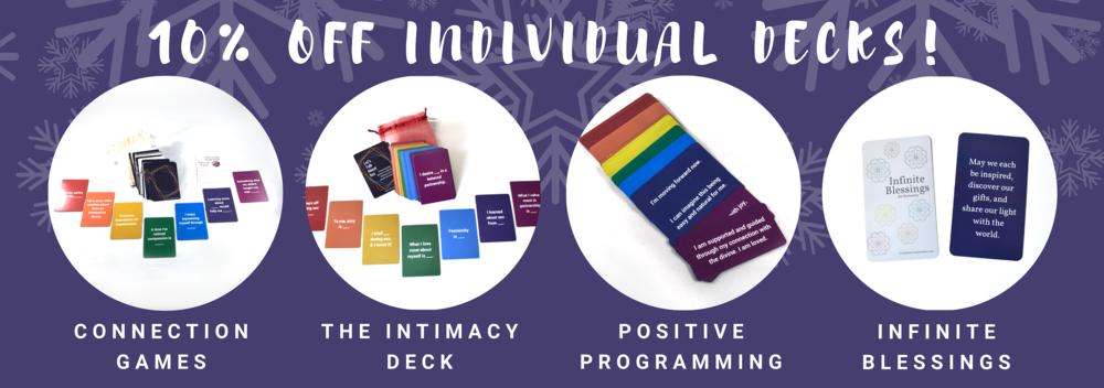 10% off individual decks