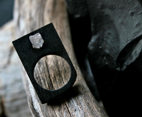 Black Oak Crystal Ring by  myYUKIKO  | $120.00