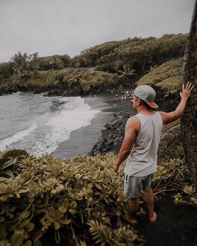 This was our second attempt to road to Hana after they announced we were on hurricane watch. We waited till it stopped raining and drove up carefully . #roadtohana #blacksandbeachmaui