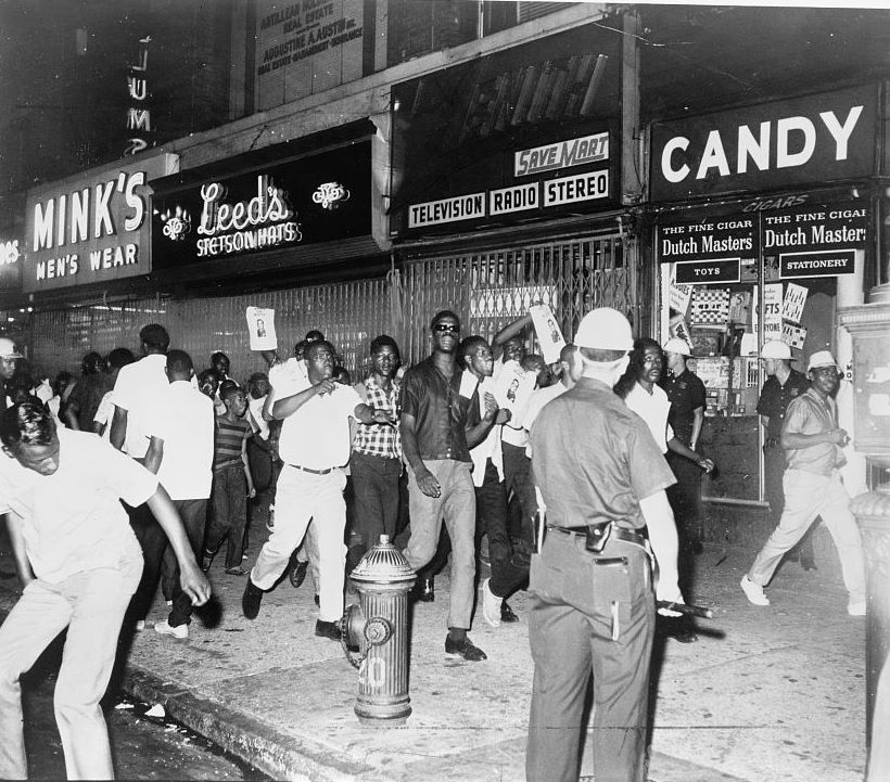 protests broke out in harlem after a 15-year-old boy names James powell was killed by an off-duty police officer. photo by By Dick DeMarsico liscensed through Wikimedia Commons.