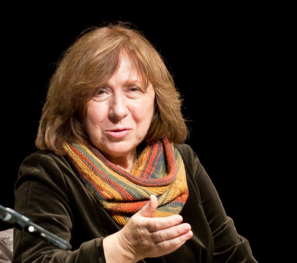 vetlana Alexievich, a Belarusian investigative journalist and prose writer, was awarded the nobel prize in Literature on thursday. image source: wikimedia commons/elke wetzig.