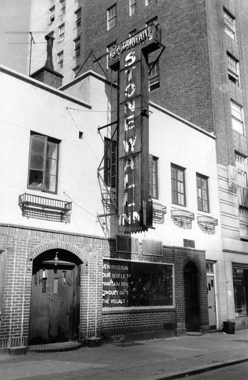 STONEWALL INN, SITE OF THE 1969 STONEWALL RIOTS, NEW YORK CITY. IMAGE FROM DAVID CARTER'S STONEWALL: THE RIOTS THAT SPARKED THE GAY REVOLUTION VIA WIKIMEDIA COMMONS.