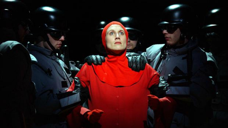 A SCREENSHEET IMAGE FROM THE 1990 FILM THE HANDMAID'S TALE.