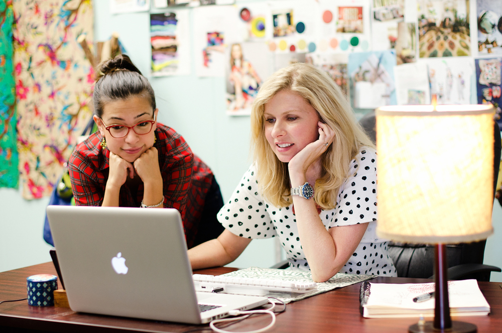 From left to right: Nicolette Perez (Junior Product Designer) & Jessica Otwell (Lead Product Designer)