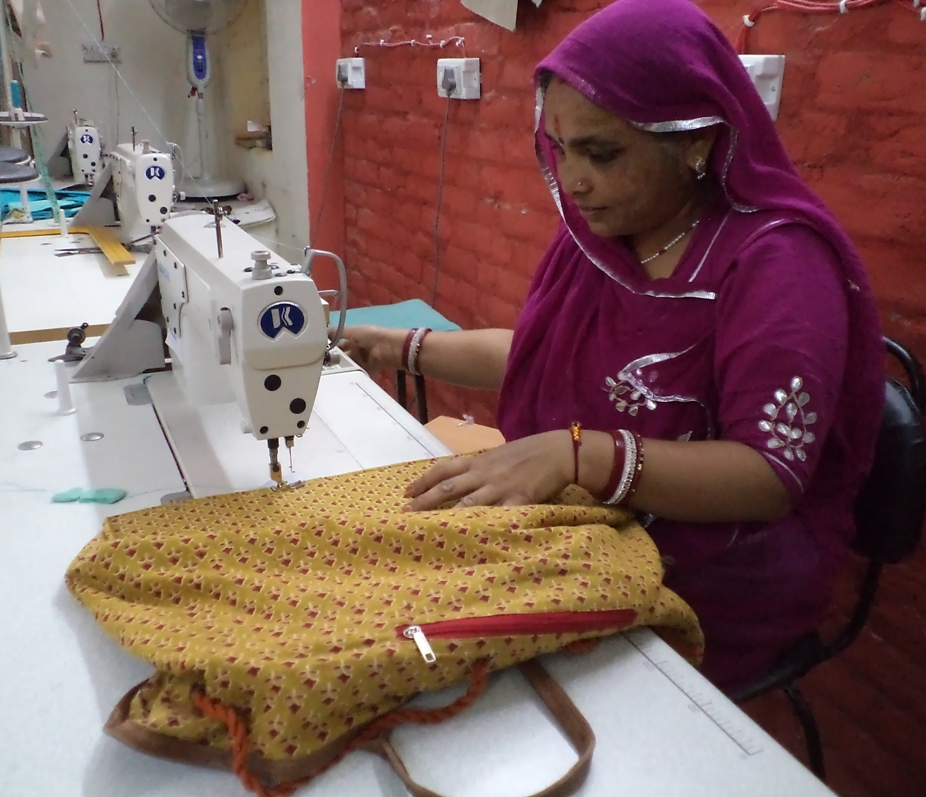 Maya, once a house maid, now leads a women's collective in Jaipur.