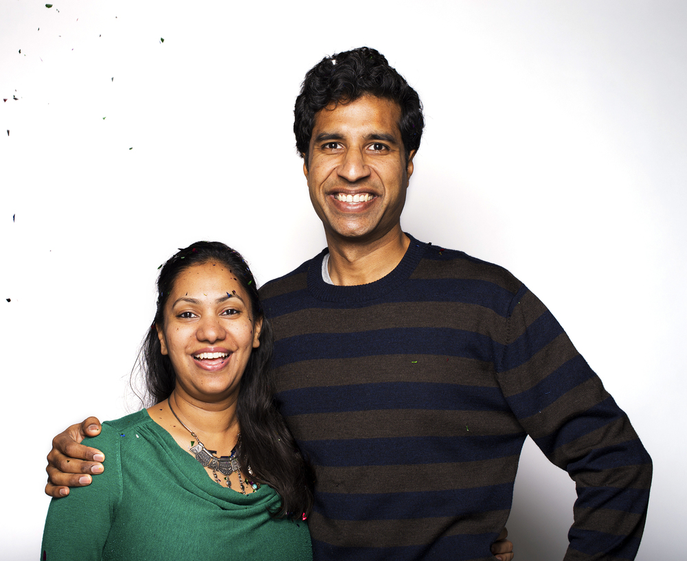 Founders Manish and Ruchi celebrating 10 years of MATR BOOMIE