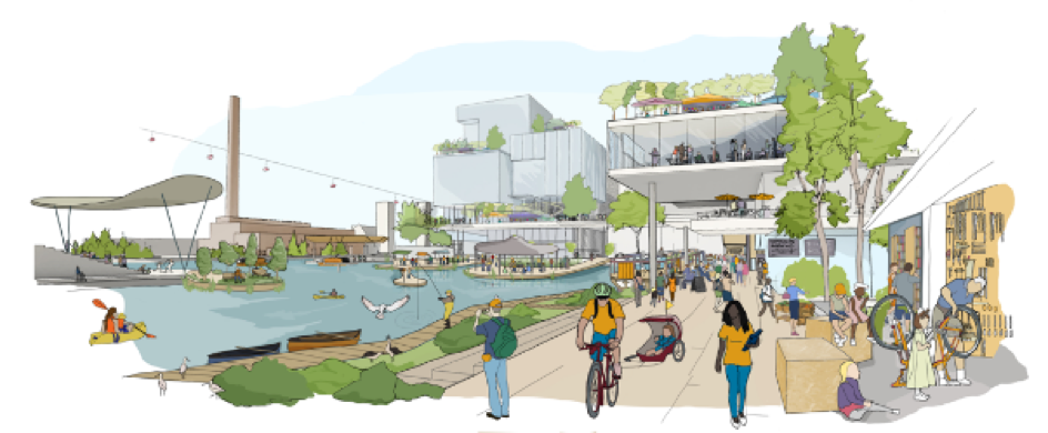 Artist impression of Toronto Quayside. Source: Sidewalk Labs