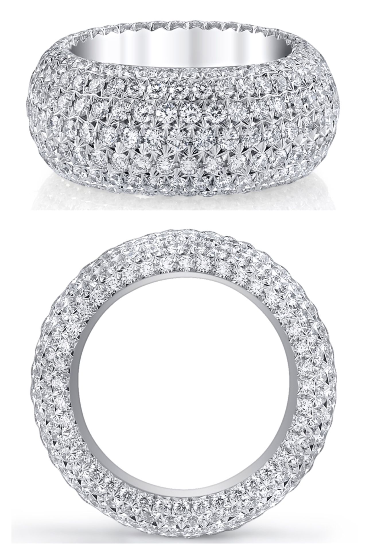 micro pave lg wedding diamond bands