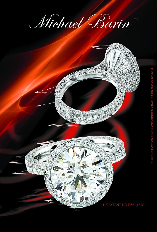 Platinum Pavilion Ring US Patent NO.D561,637S