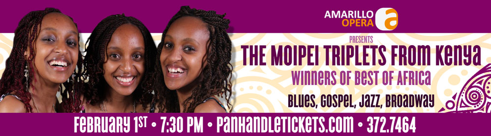 Moipei Sisters - February 1, 2019 at 7:30 (Reception at 6:30)Amarillo Little TheatreGeneral Admission Tickets: $25Reception Tickets are an Additional: $25