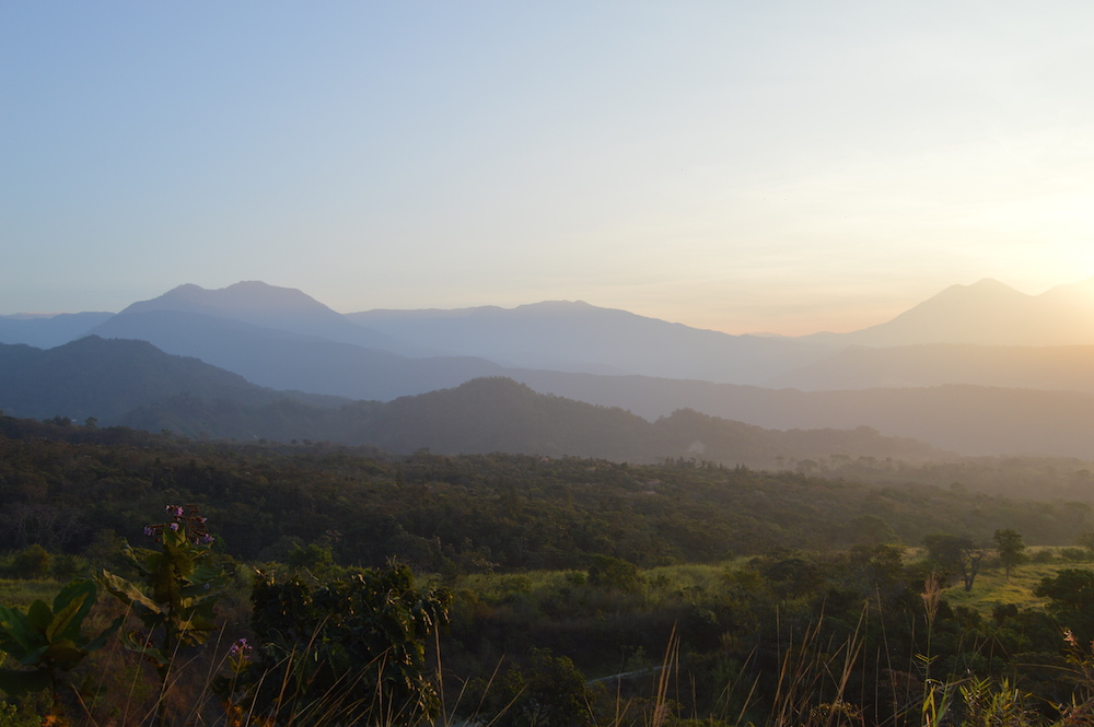 Volcano sunrise at Finca San Jerónimo Miramar