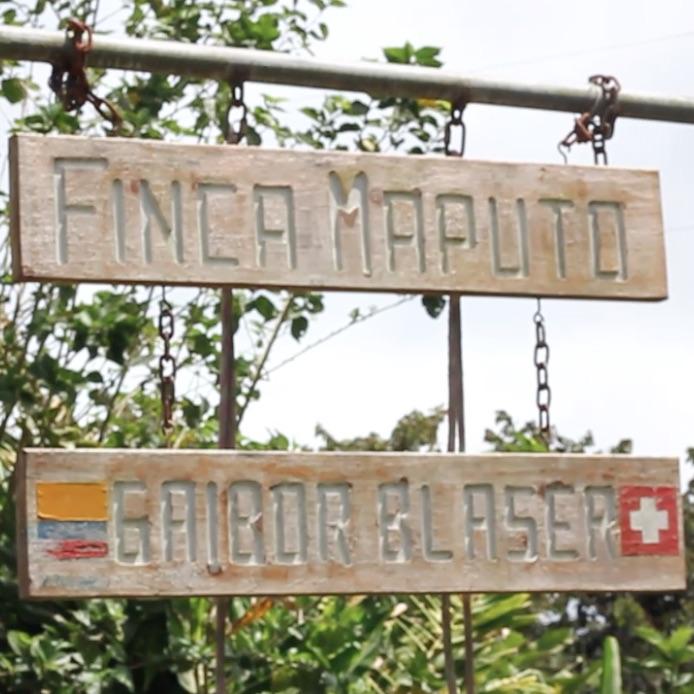 Sign at Ecuador Finca Maputo