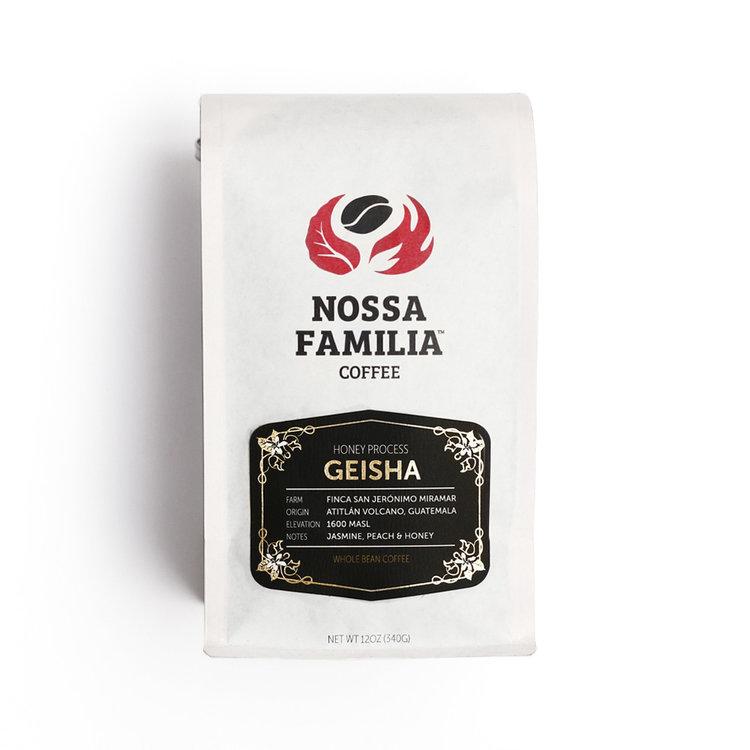 Honey Process Geisha Coffee from Guatemala by Nossa Familia Coffee