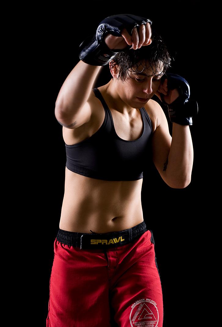 Jiu Jitsu master Cindy Hale, client: Seattle Weekly