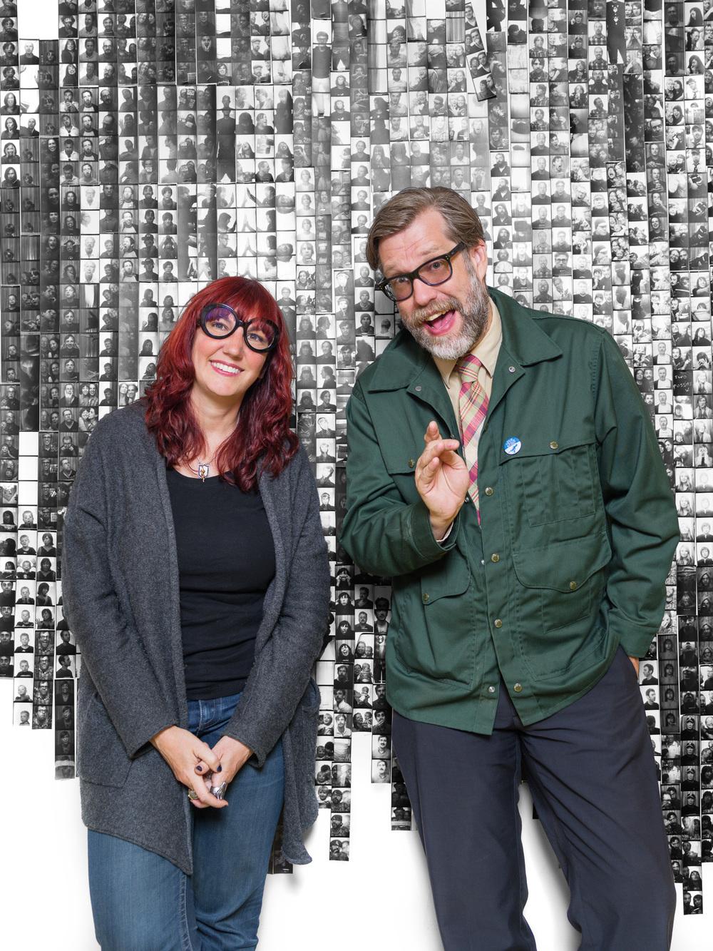 Sub Pop's Megan Jasper and John Roderick of The Long Winters, client: City Arts Magazine