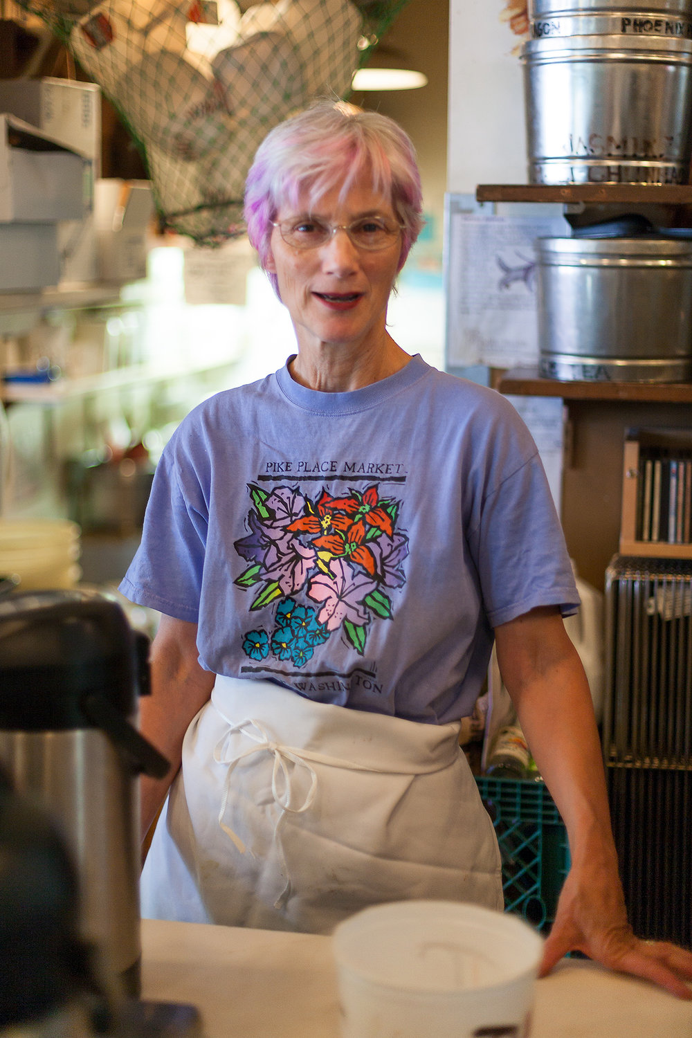 Nancy at The Crumpet Shop, client: Seattle Weekly