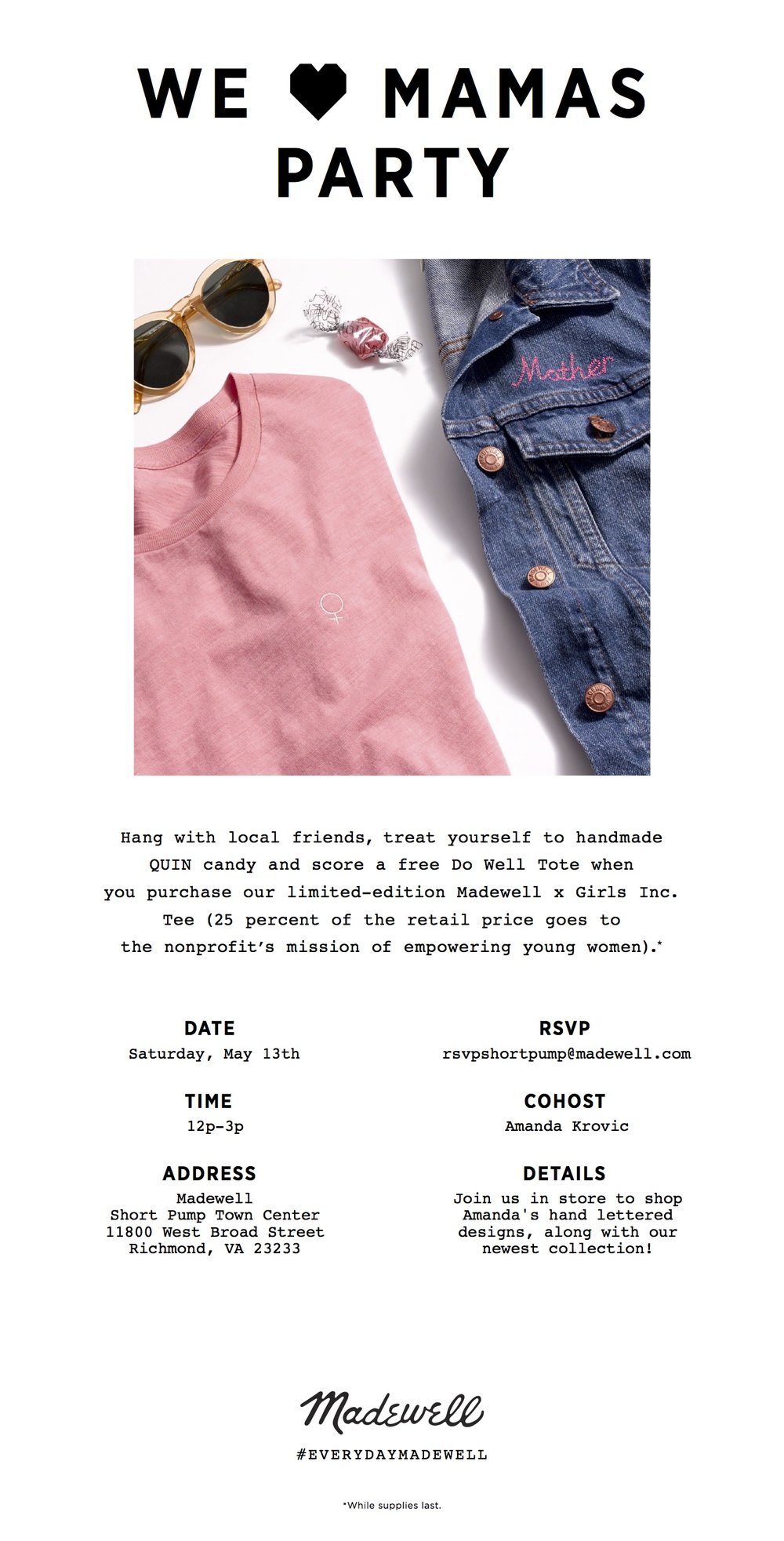 MADEWELL POP-UP EVENT