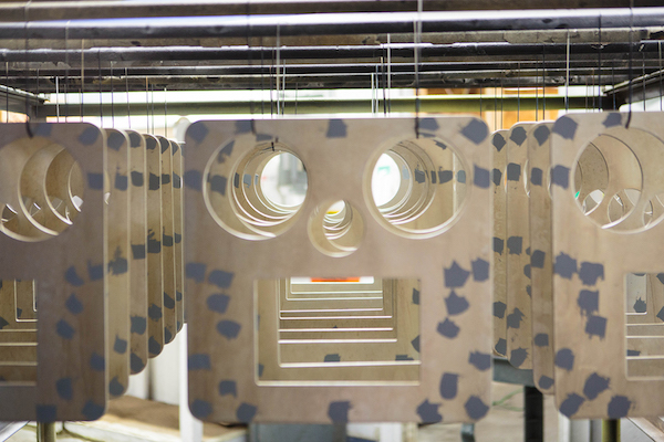 Copy of The face plates of the MediaBooth Pro waiting for powder coating