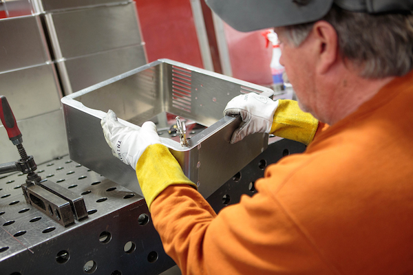 Copy of MediaBooth Pro enclosures are welded by the hands of craftsman