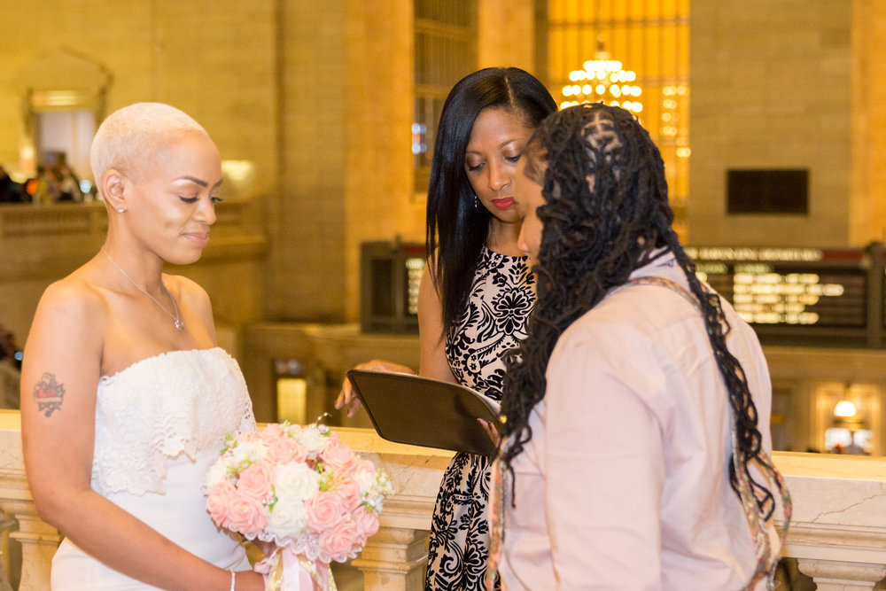 Officiant Aretha Gaskin