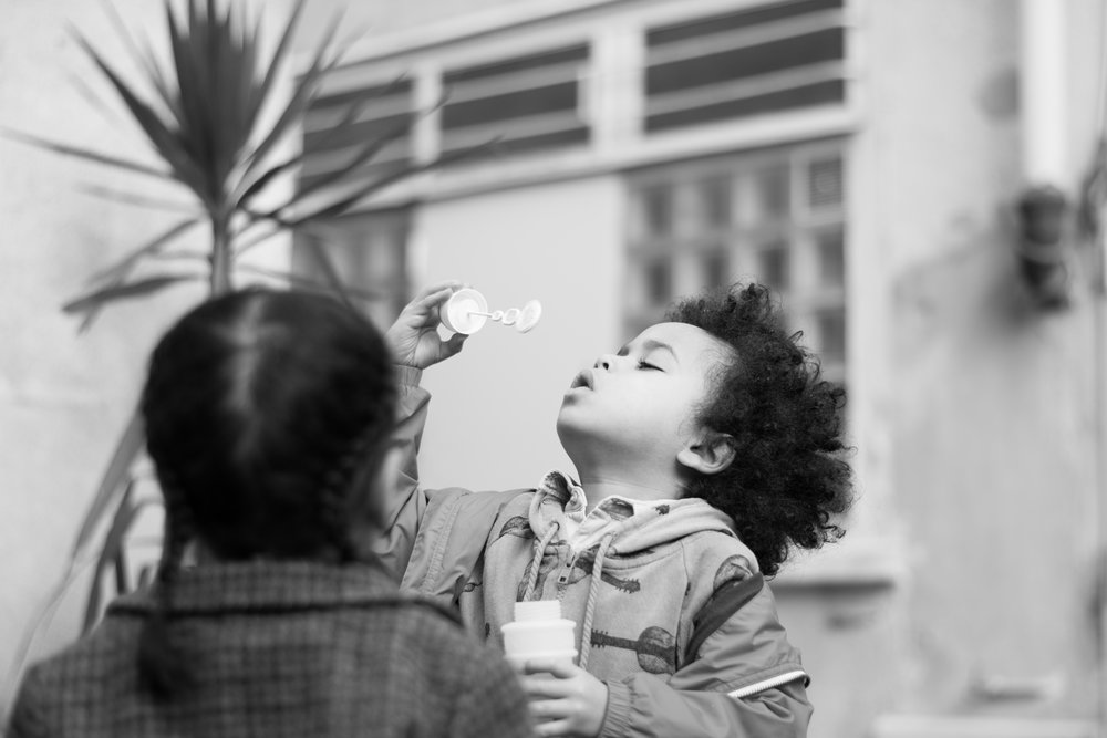 The intense concentration as a child blows bubbles doesn't last long so you don't have time to be faffing about with camera settings.