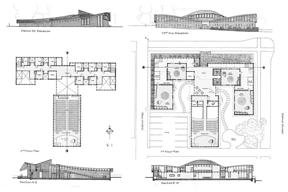 Elevations, Floor Plans, Sections