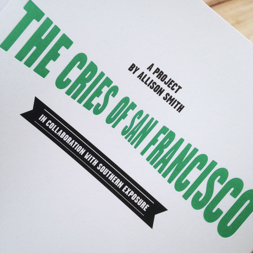 "The cover of ""The Cries of San Francisco."""
