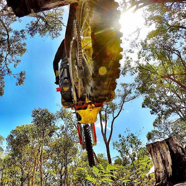 Way to close Wednesday. @ktm.australia enduros in the Ottways. #ouch #enduro #trailriding #KTM @goproanz @gopro #goproanz #BNW www.jeffcrowphoto.com
