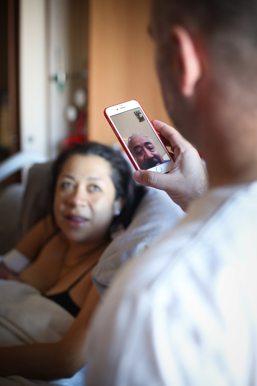 This moment! Ximena's dad meeting his granddaughter for the 1st time. Technology can be amazing.
