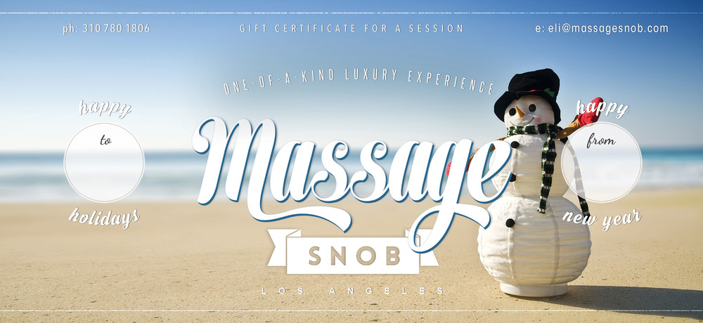 Massage Snob Gift Certificate Holiday