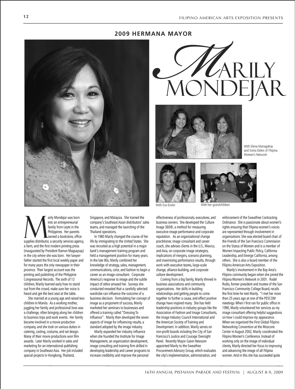 Marily Mondejar  2009 Pistahan Hermana Mayor