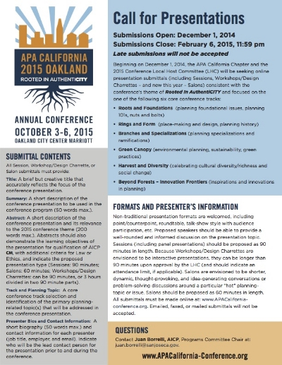 American Planning Association Call for Presentations