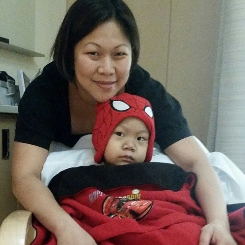Cheely Ann Sy and her son RJ. (Photo courtesy of the Sy Family)