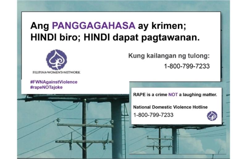 #rapeNOTaJoke Tagalog Billboard 2016