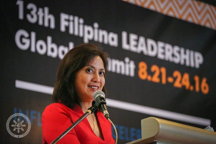 FWN recognized Philippines Vice President Leni Robredo as one of the 100 Most Influential Filipina Women in the World (Global FWN100™ '16) at the 13th Filipina Leadership Global Summit (August 21-24, 2016) held in Cebu, Philippines at the beautiful Shangri-La Mactan. Here's her keynote address.  Remarkable  #FWNSummit2016 leadership keynotes  from Philanthropist  Angelica Berrie Global FWN100™ '14, ,  Senator Loren Legarda, and Lorna Patajo-Kapunan, Esq., Global FWN100™ '16 and on the  Summit blog : http://www.filipinasummit.org/blog/
